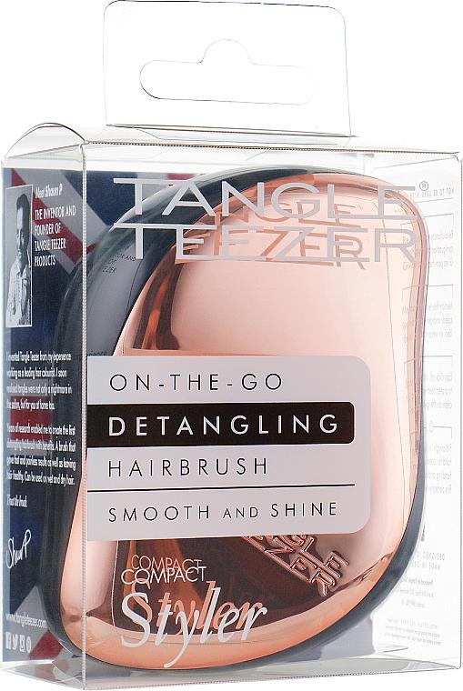 Компактна четка за коса - Tangle Teezer Compact Styler Rose Gold — снимка N4