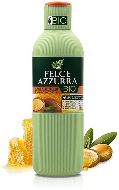 Душ гел с арганово масло и мед - Felce Azzurra BIO Argan & Honey Shower Gel — снимка N1
