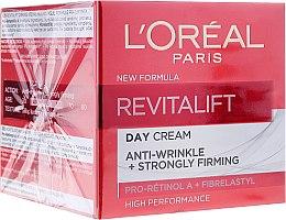 Парфюми, Парфюмерия, козметика Дневен крем против бръчки с еластин - L'Oreal Paris Revitalift Anti-Wrinkle + Strongly Firming Day Cream