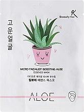Парфюмерия и Козметика Памучна маска за лице - Beauty Kei Micro Facialist Boosting Aloe Essence Mask