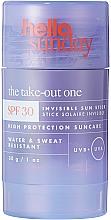 Парфюмерия и Козметика Слънцезащитен стик за лице и тяло - Hello Sunday The Take-Out One Invisible Sun Stick SPF 30
