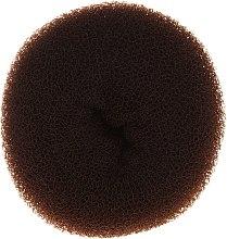 Парфюмерия и Козметика Гъба за кок, 15х6.5 см, кафява - Ronney Professional Hair Bun 053