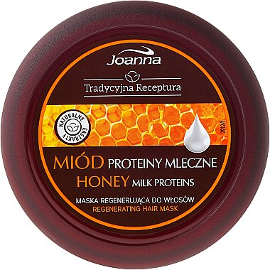 Възстановяваща маска за коса - Joanna Honey Milk Proteins Regenerating Hair Mask