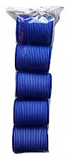 Парфюмерия и Козметика Велкро ролки за коса 498788, 48 мм, сини - Inter-Vion