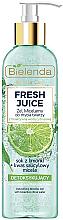 Парфюмерия и Козметика Мицеларен гел за лице с детокс ефект - Bielenda Fresh Juice Detox Lime