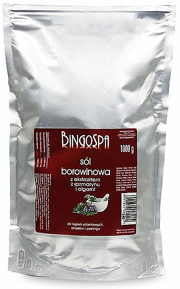 Калолечебна сол с екстракт от розмарин и водорасли - BingoSpa Salt Mud Extract Of Rosemary