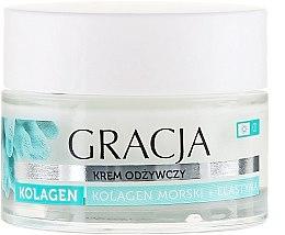 Парфюмерия и Козметика Подхранващ крем против бръчки с морски колаген и еластин - Gracja Sea Collagen And Elastin Anti-Wrinkle Day/Night Cream