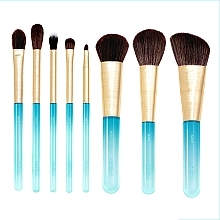Парфюмерия и Козметика Комплект четки за грим, 8 бр. - Nabla Aquamarine Essential Brush Set