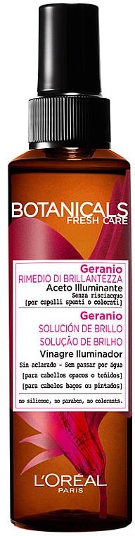 Спрей за коса - L'Oreal Paris Botanicals Fresh Care Geranium Shine Vinegar — снимка N2