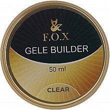 Парфюми, Парфюмерия, козметика Моделиращ прозрачен гел-желе за нокти - F.O.X Gele Builder UV Clear