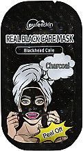 Парфюми, Парфюмерия, козметика Пилинг маска за лице с активен въглен - Purenskin Peel Off Real Black Care Mask