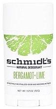 Парфюми, Парфюмерия, козметика Натурален дезодорант - Schmidt?s Naturals Deodorant Bergamot Lime Stick
