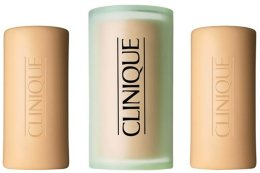 Парфюми, Парфюмерия, козметика Мини сапун за лице за мазна кожа - Clinique Three Little Soaps with Travel Dish Oily Skin Formula