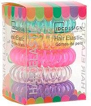 Парфюми, Парфюмерия, козметика Комплект разноцветни силиконови ластици, 5бр - IDC Institute Design Hair Bands Pack