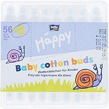 Парфюмерия и Козметика Детски клечки за уши, 56 бр - Bella Baby Happy
