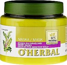 Парфюмерия и Козметика Успокояваща маска с екстракт от женско биле за чувствителен скалп - O'Herbal