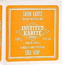 Парфюмерия и Козметика Сапун с масло от ший и аромат на мед и бадеми - Institut Karite Almond and Honey Shea Soap