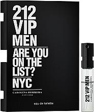 Парфюмерия и Козметика Carolina Herrera 212 VIP Men - Тоалетна вода (мостра)