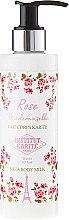 Парфюми, Парфюмерия, козметика Мляко за тяло с масло от ший и аромат на роза - Institut Karite Rose Mademoiselle Shea Body Milk