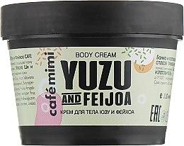 """Парфюмерия и Козметика Крем за тяло """"Юзу и фейхоа"""" - Cafe Mimi Body Cream Yuzu And Feijoa"""