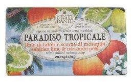 "Парфюмерия и Козметика Сапун ""Лайм и мангостин"" - Nesti Dante Paradiso Tropicale Tahitian Lime & Mosambi Peel Soap"