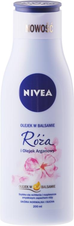 Балсам за тяло с роза и арганово масло - Nivea Balm With Rose & Argan Oil — снимка N1