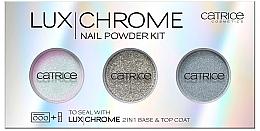 Парфюми, Парфюмерия, козметика Комплект пигменти за нокти - Catrice LuxChrome Nail Powder Kit