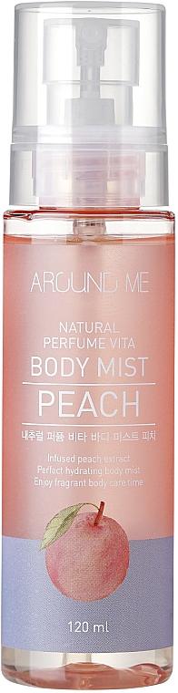 Мист за тяло с аромат на праскова - Welcos Around Me Natural Perfume Vita Body Mist Peach