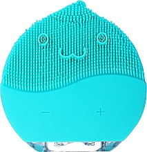 Парфюмерия и Козметика Почистваща четка за лице, BR-030, светлосиня - Lewer Facial Cleansing Brush Blue