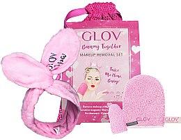 Парфюмерия и Козметика Комплект - Glov Spa Bunny Together Set (glove/1 + mini/glove/1 + headband/1 + bag/1)