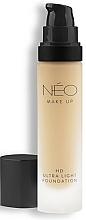 Парфюмерия и Козметика Ултралек фон дьо тен - NEO Make Up HD Ultra Light Foundation