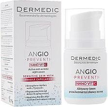 Парфюми, Парфюмерия, козметика Активен нощен крем против бръчки за кожа склонна към зачервявания - Dermedic Angio Preventi Active Anti-Wrinkle Night