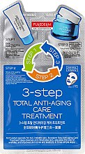 "Парфюмерия и Козметика Тристепенен комплекс за лице ""Антистарееща грижа"" - Purederm 3-Step Total Anti-Aging Care Treatment"