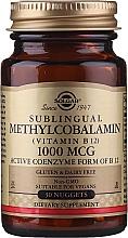 """Парфюмерия и Козметика Хранителна добавка """"Сублингвален метилкобаламин-Витамин В12"""", подезични таблетки - Solgar Sublingual Methylcobalamin 1000 mcg"""