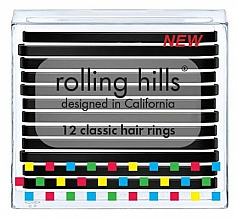 Парфюмерия и Козметика Комплект ластици за коса - Rolling Hills Classic Hair Rings Black