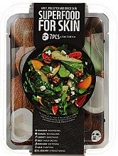 Парфюми, Парфюмерия, козметика Комплект памучни маски за лице - Superfood Salad For Skin Grey Polluted And Dried Skin (mask/7x25ml)