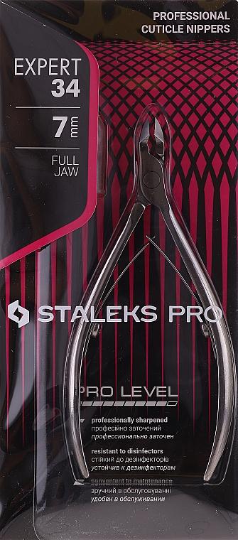 """Професионални клещи за кожички NE-34-7 """"Expert"""" - Staleks Pro — снимка N1"""
