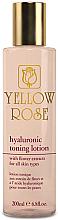 Парфюмерия и Козметика Тонизиращ лосион за лице с хиалуронова киселина - Yellow Rose Hyaluronic Toning Lotion