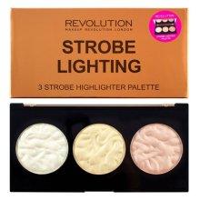 Парфюми, Парфюмерия, козметика Палитра хайлайтъри за лице - Makeup Revolution 3 Strobe Highlighter Palette