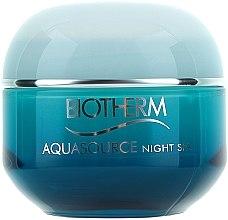 Парфюми, Парфюмерия, козметика Нощен балсам за лице с троен спа ефект - Biotherm Aquasource Night Spa (тестер)