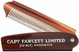 Парфюми, Парфюмерия, козметика Сгъваем гребен за брада, CF82T - Captain Fawcett Folding Pocket Beard Comb