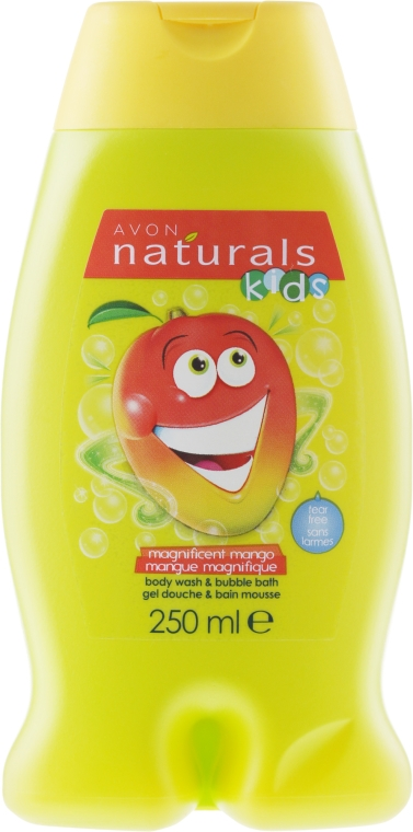 "Детски душ гел ""Манго"" - Avon Naturals Kids Mango Body Wash and Bubble Bath — снимка N1"