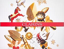 Комплект - Clarins Weekend Treats Nole 2019(лос. за тяло/30ml+крем за ръце/100ml+крем за лице/50ml+крем/15ml+околоочен гел/3ml+масло за устни/2/8ml+козм. чанта) — снимка N1