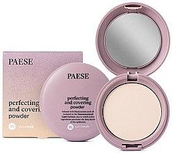 Парфюмерия и Козметика Компактна матираща пудра за лице - Paese Perfecting & Covering Nanorevit Powder