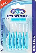 Парфюми, Парфюмерия, козметика Интердентални четки за зъби, 0,6мм, син цвят - Beauty Formulas Active Oral Care Interdental Brushes Blue