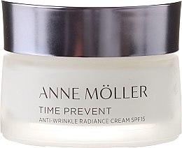 Парфюми, Парфюмерия, козметика Крем за лице - Anne Moller Time Prevent Antiwrinkle Radiance Cream SPF15