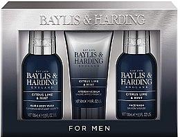 Парфюми, Парфюмерия, козметика Комплект за мъже - Baylis & Harding Citrus Lime & Mint (b/wash/100ml + a/s/balm/50ml + wash/100ml)