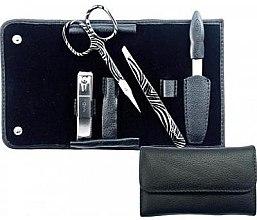 """Парфюмерия и Козметика Маникюрен комплект """"Black"""" - Credo Solingen Luxurious Manicure Set 4 pcs. Set"""