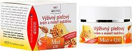 Парфюмерия и Козметика Подхранващ крем за лице с пчелно млечице - Bione Cosmetics Honey + Q10 Cream