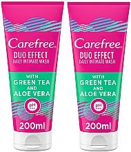 Парфюмерия и Козметика Комплект за интимна хигиена - Carefree Aloe Vera Intimate Gel (гел-2бр/200ml)